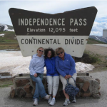 Cheri Armstrong, Paula Ferullo, Annie Haven at the Continental Divide