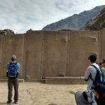 Ancient walls of stone at Machu Picchu